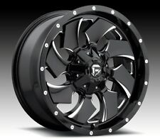 Fuel Cleaver D574 20x9 5x5.5/5x150 ET20 Black Wheels Rims (Set of 4)