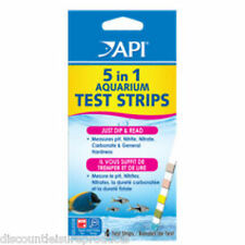API Freshwater & Saltwater Marine Aquarium 5 in 1 Dip Stick Test Strips