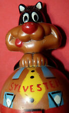 Vtg Original Warner Bros Cartoon Pussy Cat Sylvester Weebles Roly Poly Toy Rare