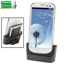 Dock station Charger con slot seconda batteria Nero per Samsung Galaxy S3 i9300
