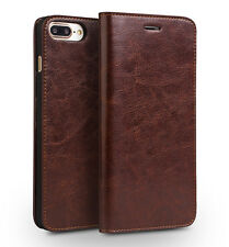 Genuine Leather Apple iPhone 7 Plus Luxury Card Flip Wallet Phone Case I47Plus