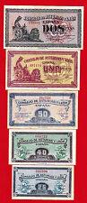 COMPLETE SET  25 , 40 , 50 Céntimos 1 & 2 Pesetas ND  CONSEJO DE ASTURIAS Y LEON