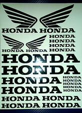 Honda and  Honda Wings Tank Motorcycle Van Car Vinyl Decals Stickers set