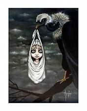 Angelina Wrona Special Delivery 11x14 print poster fantasy surreal vulture baby