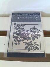 "Dreamweaver Stencils ""Bird and Blossoms"" Metal Stencil 3-1/2"" X 3-1/2"""