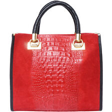Handbag Bag Italian Genuine Leather Hand made in Italy Florence 7004 lr