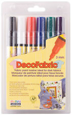 Marvy Uchida DecoFabric Opaque Marker Set 3mm Bullet Point Deco Fabric 222-6A