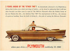 Vintage 1960 Magazine Ad Plymouth Fury w/Flight-Sweep Styling / Campbell's Soup