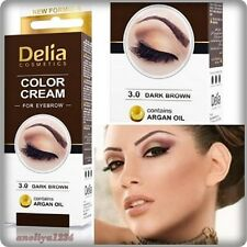 DELIA HENNA / COLOR CREAM EYEBROW PROFESSIONAL TINT KIT DARK BROWN,