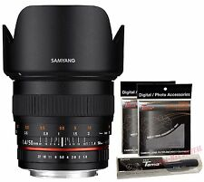 Samyang 50mm F1.4 AS UMC Full Frame Standard Lens for Sony a Alpha + Free GIFT