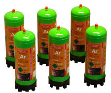 6 disposable Argon gas bottles 220ltr for mig/tig welding