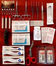 Suture Kit Surgical Bag Home Outdoor Hiking Survival Blood Clot Powder Bug Out