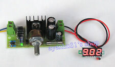 AC/DC to DC 12V 24V LM317T Adjustable Regulator Power Supply Board LED Voltmeter