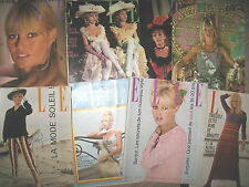 BRIGITTE BARDOT 7 COUVERTURES DU MAGAZINE ELLE DE 1959 A 1966 COVERS ONLY !