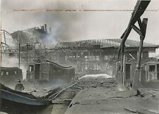 STATEN ISLAND FERRY SLIPPER FIRE REMAINS 1946 8X10 PHOTO REPRINT ONLY