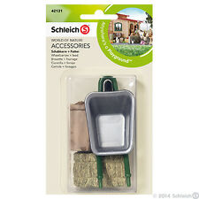 NEW SCHLEICH 42131 Accessories - Equestrian Horse - Wheelbarrow & Feed Set
