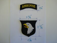 1 SET= 2 PCS. NEW US 101st  AIRBORNE embroidered patches w/Velcro back