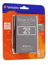 Verbatim 2TB Store 'n' Go Portable Hard Drive, USB 3.0, Black 53177