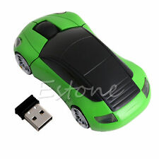 New 2.4G 1600DPI Mouse USB Receiver Wireless Light LED Car Shape Optical Mice