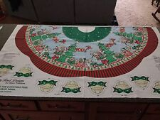 Rock Around the Christmas Tree - Lot of 2 Panels, each 36x60 Tree Skirt