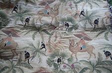 Petit coupon de tissu tapisserie singes et chameaux siége coussin autre