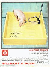 PUBLICITE ADVERTISING 036  1964  Villeroy & Boch  bac de douche sanitaires céram