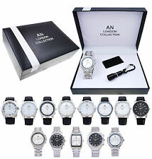 AN London Gift Watch Set with Leather Money Clip & Torch for Men's/Boy's -AN2177