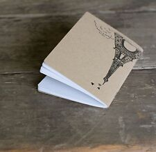 Ladybug Press: Eiffel Tower Notebook, hand drawn and letterpress printed