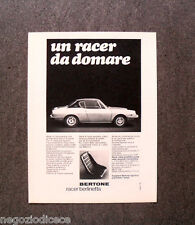 N666 - Advertising Pubblicità - 1968 - BERTONE , RACER BERLINETTA