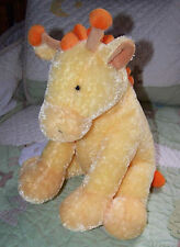 "Russ GEORGIE Stuffed Plush Yellow & Orange Giraffe Baby Toy w Rattle 12"" EUC"