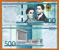 Dominican Republic, 500 Pesos Dominicanos, 2014, P-New, UNC   Redesigned