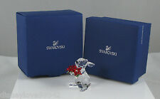 Swarovski Crystal Bunny Rabbit Poinsettia Christmas # 1133620 Ornamental Figure