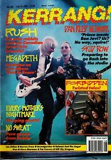 Rush on Kerrang Cover 1990  Dan Reed  Megadeth Every Mother's Nightmare Skid Row