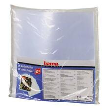 "HAMA 12"" LP VINYL RECORD PLASTIC OUTER SLEEVES HEAVY DUTY PACK 10 051271"