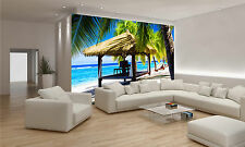 Tropical Gazebo on a Beach Wall Mural Photo Wallpaper GIANT DECOR Paper Poster