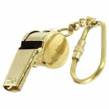 Coaches Functional Ruckus Brass Whistle Automobile Novelty Keychain