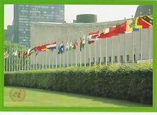 UNITED NATIONS, NEW YORK - MEMBER STAES FLAGS PRE-STAMPED COLOUR POSTCARD