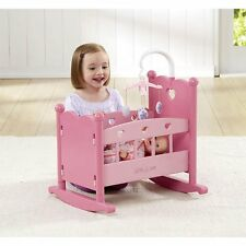 You & Me Baby Doll Rocking Cradle Cot BED