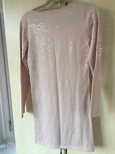 Reiss Designer Sequence  Nude Beige Dress, Size S Stunning