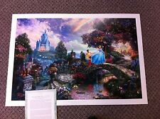 "Thomas Kinkade "" Cinderella Wishes Upon a Dream "" Disney Lithograph"