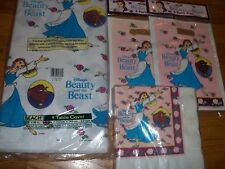 4pc Lot 1991 Beach Belle Beauty & the Beast Birthday Party Goods Multi-color NOS