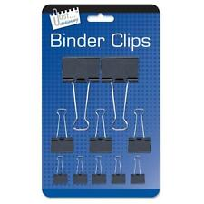 Classeur clips 10 x black métal résistant replier Bulldog divers formats de papier