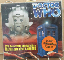 DR WHO 35th Anniversary Special Edition1998 Calendar shrink wrapped Tardis !