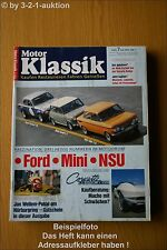 Motor Klassik 7/92 Chevy Corvette Sting Ray NSU Mini