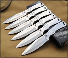 "8"" OVERALL PERFECT POINT SILVER SPIDER THROWING KNIVES NYLON SHEATH - 6 PCS SET"