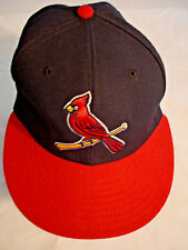 ST. LOUIS CARDINALS BASEBALL Blue & Red Embroidered Offical Cap Hat Sz 7 1/8
