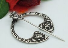 RARE ROBERT ALLISON SCOTTISH STERLING SILVER PENANNULAR KILT PIN CELTIC BROOCH