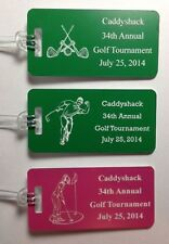 Set of 50 Plastic BLANK Golf Tournament Bag Tags 14 Colors
