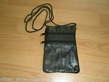 new Neck Purse Black , great gift, 3 pockets (holiday,party,stocking,money...)