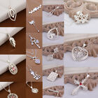 Wholesale 925 Solid Silver Necklaces Jewelry Women Pendant Girl's Necklace Gift
